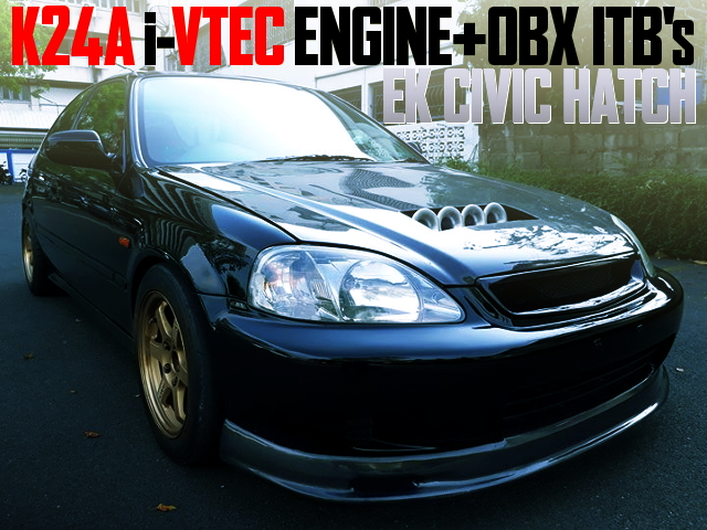 K24A ITBs iVTEC ENGINE EK CIVIC HATCH