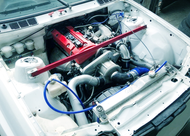 F20C VTEC ENGINE WITH ROTREX SUPERCHARGED
