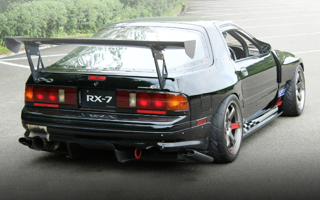 BACK FC3S RX-7 WIDEBODY BLACK