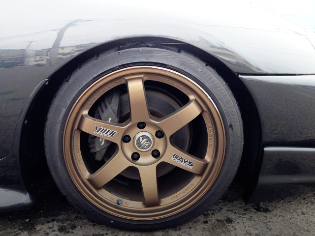 FRONT TE37 WHEEL OF JZA80 SUPRA