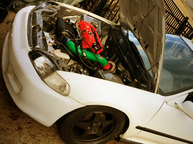K24A SWAP ENGINE ROOM FROM EJ1 CIVIC COUPE