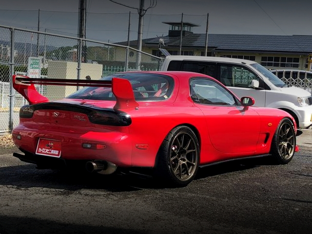 REAR EXTERIOR FD3S RX-7 RED