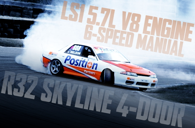 V8 LS1 ENGINE 6MT R32 SKYLINE 4-DOOR