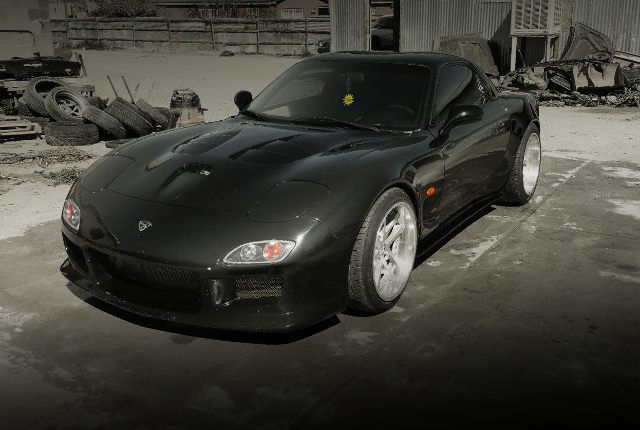 FRONT FACE FD3S RX-7 WIDEBODY BLACK