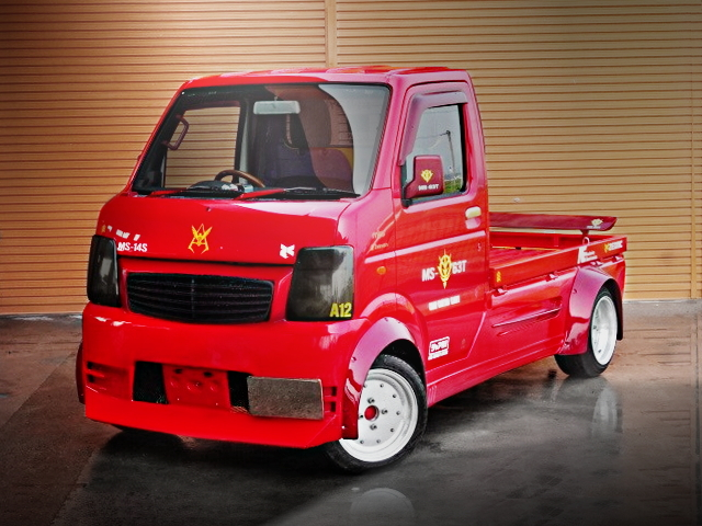FRONT EXTERIOR DA63T CARRY TRUCK RED