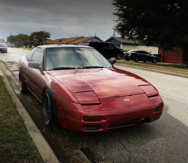 FRONT FACE S13 240SX RED