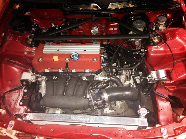 K20Z ENGINE ENGINE HAED COVER RED
