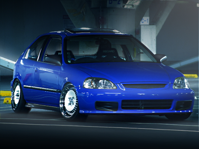 FRONT FACE EK3 CIVIC BLUE