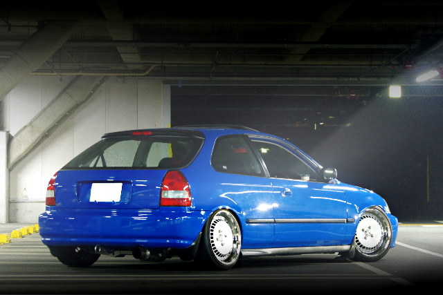 REAR EXTERIOR EK3 CIVIC BLUE