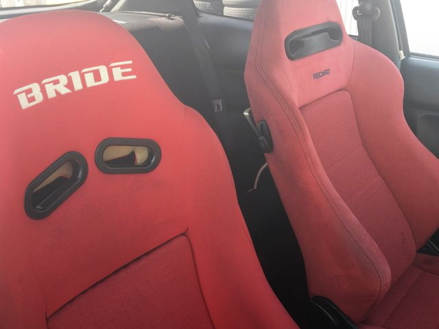 BRIDE AND RECARO SEATS
