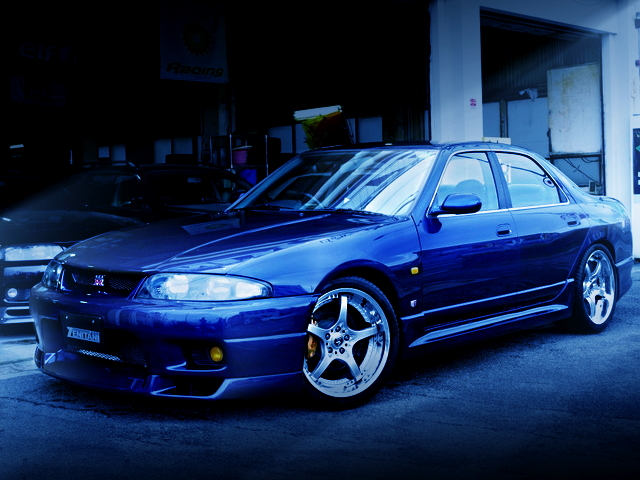 FRONT EXTERIOR ENR33 SKYLINE 4-DOOR DARK BLUE