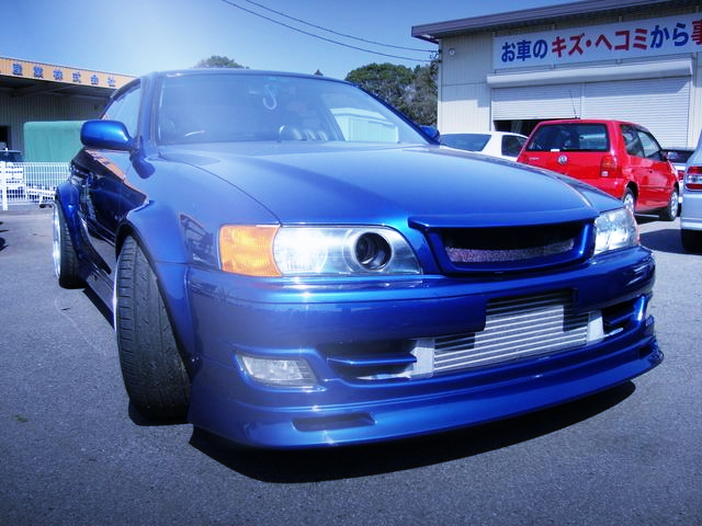 FRONT JZX100 CHASER BLUE