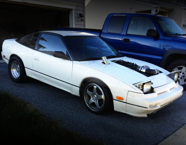 RIGHT SIDE EXTERIOR S13 240SX WHITE