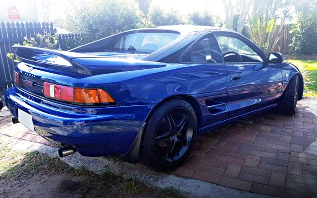 REAR EXTERIOR SW20 MR2 BLUE