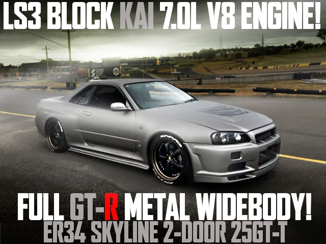 7000cc V8 ENGINE GT-R WIDE ER34 SKYLINE 2-door