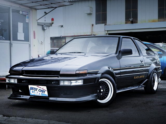 FRONT EXTERIOR AE86 BLACK LIMITED