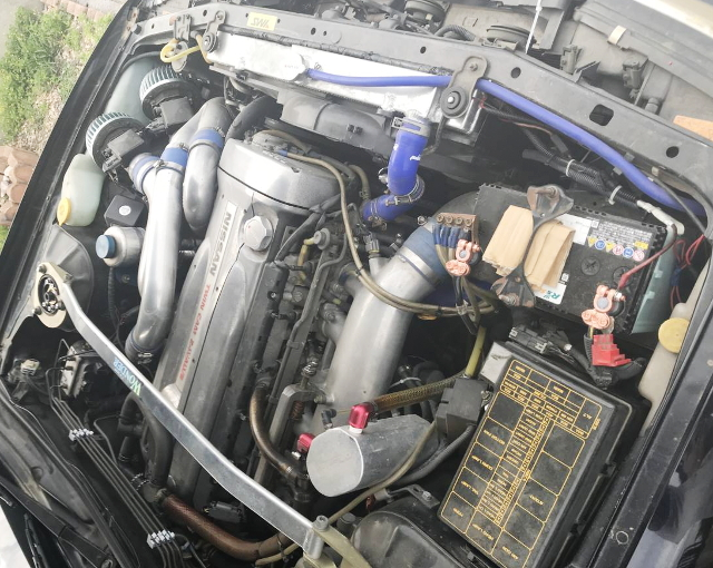 SILVER VALVE COVER FROM RB26