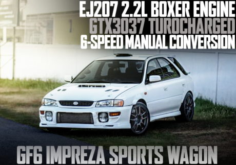 EJ207 2.2L ENGINE 6SPEED GF6 IMPREZA WAGON