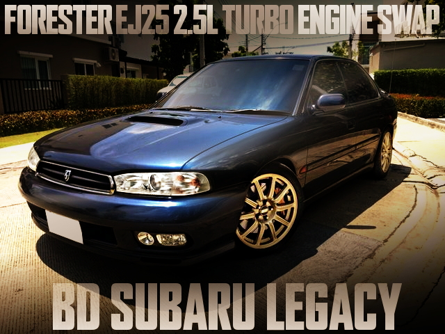 EJ25 TURBO ENGINE BD LEGACY SEDAN