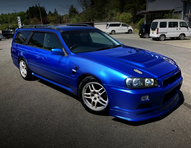 FRONT EXTERIOR WGNC34 STAGEA BLUE
