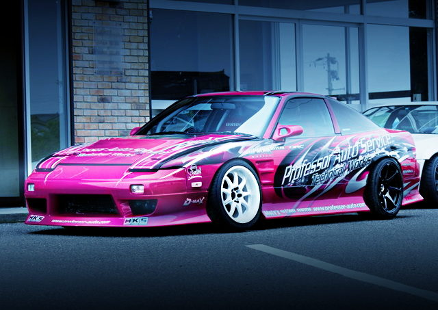 FRONT EXTERIOR 180SX PINK