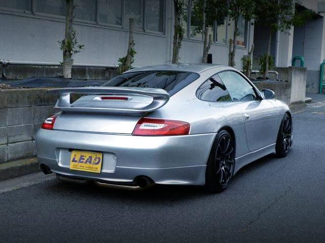 REAR EXTERIOR 996 PORSCHE 911 SILVER
