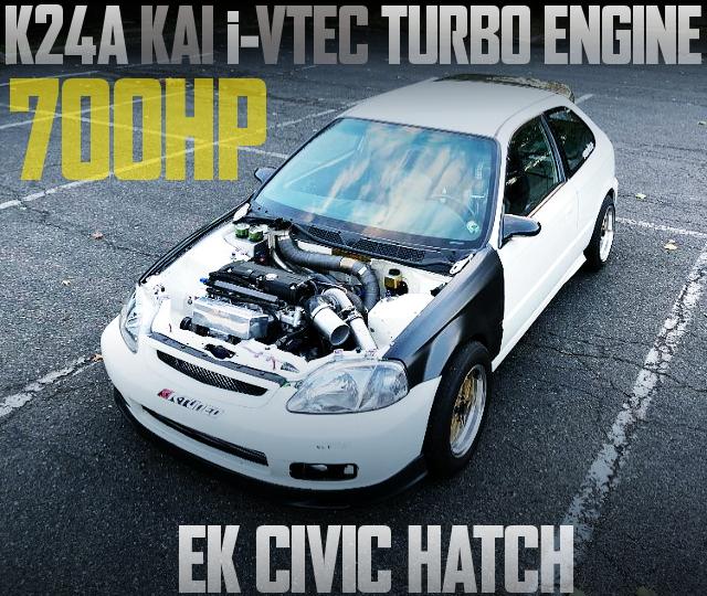 700HP K24A iVTEC TURBO EK CIVIC