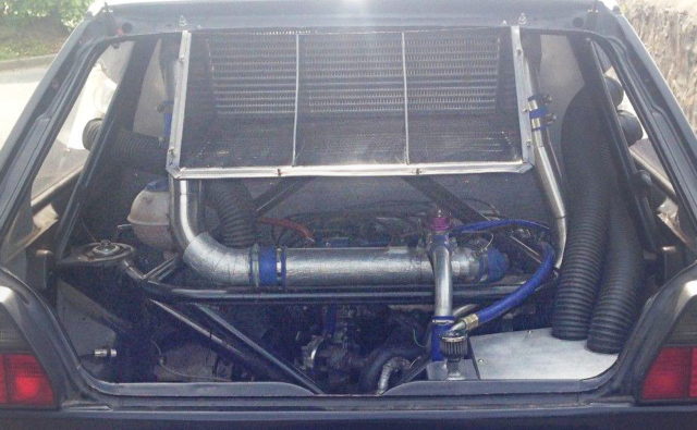REAR MOUTED GOLF MK2 ENGINE ROOM