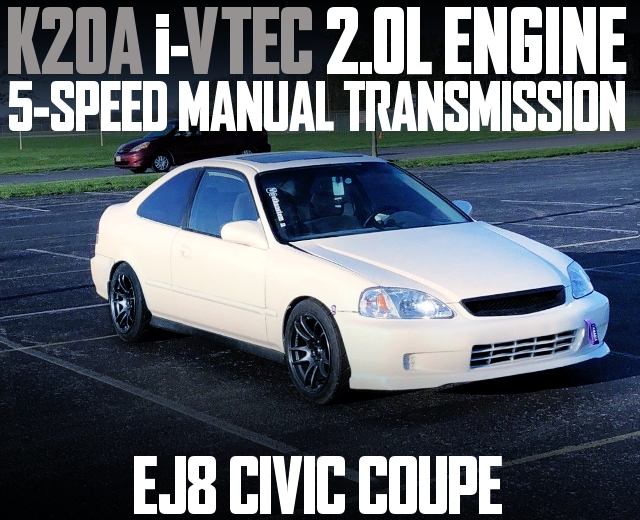 K20A i-VTEC ENGINE EJ8 CIVIC COUPE