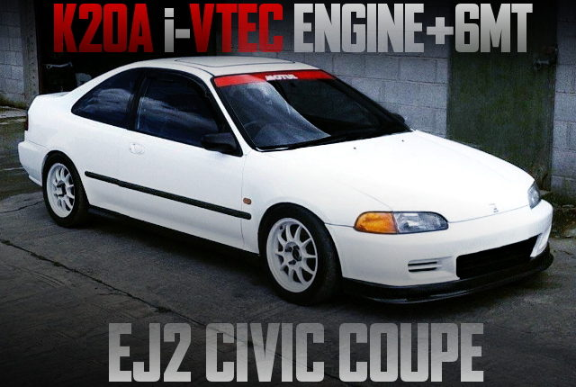 K20A iVTEC ENGINE EJ2 CIVIC COUPE
