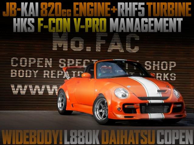200HP 820cc ENGINE L880K COPEN