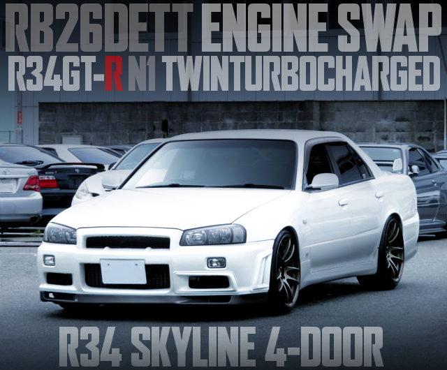 R34 SKYLINE 4-DOOR RB26 SWAP