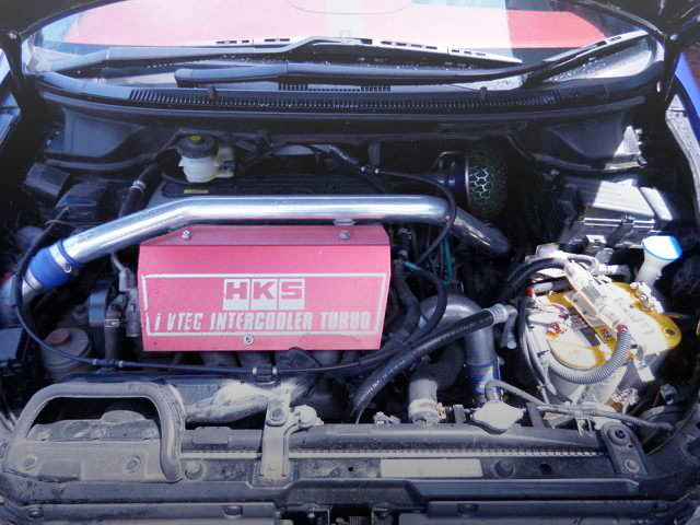 K24A ENGINE WITH HKS TURBO