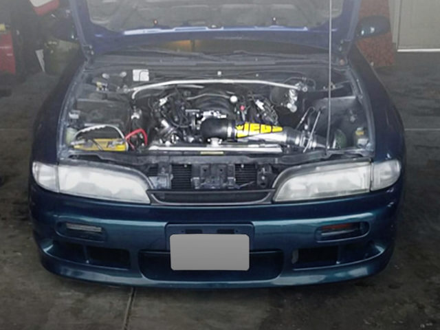 S14 ZENKI 240SX V8 ENGINE ROOM