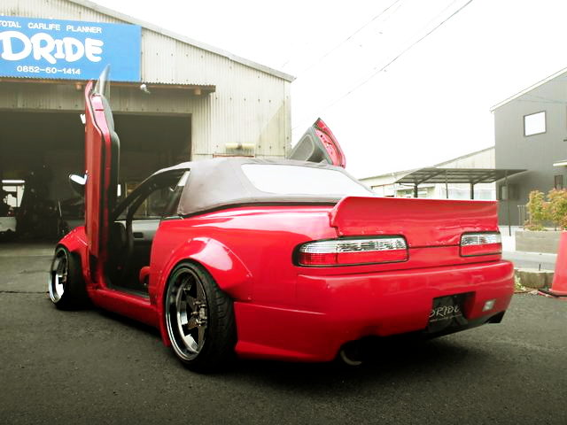 REAR S13 SILVIA CONVERTIBLE RED