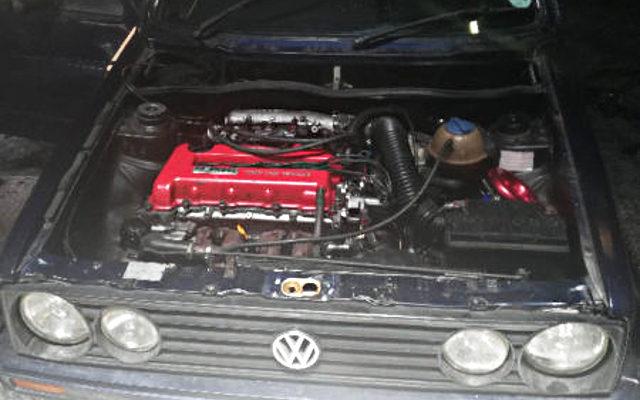 GOLF MK1 ENGINE ROOM