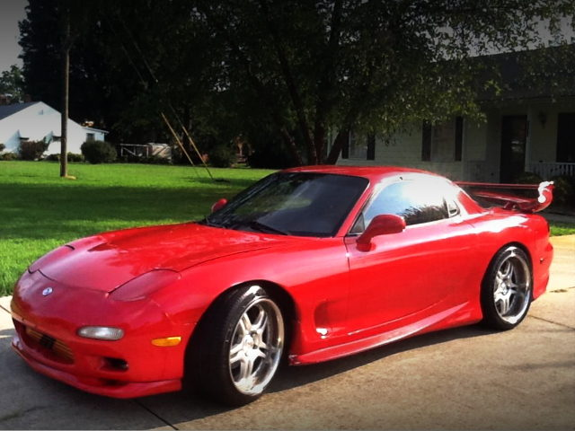 FRONT EXTERIOR FD RX-7 RED