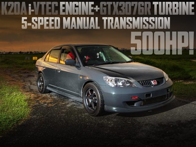 K20A iVTEC TURBO 500HP ES CIVIC FERIO
