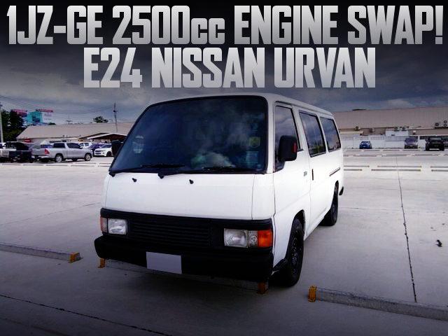 1JZGE 2500cc ENGINE SWAP E24 NISSAN URVAN