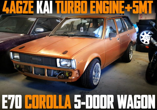 4AGZE TURBO E70 COROLLA WAGON ORANGE