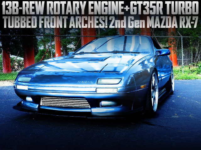 13B-REW ROTARY SWAP 2nd Gen RX7 BLUE