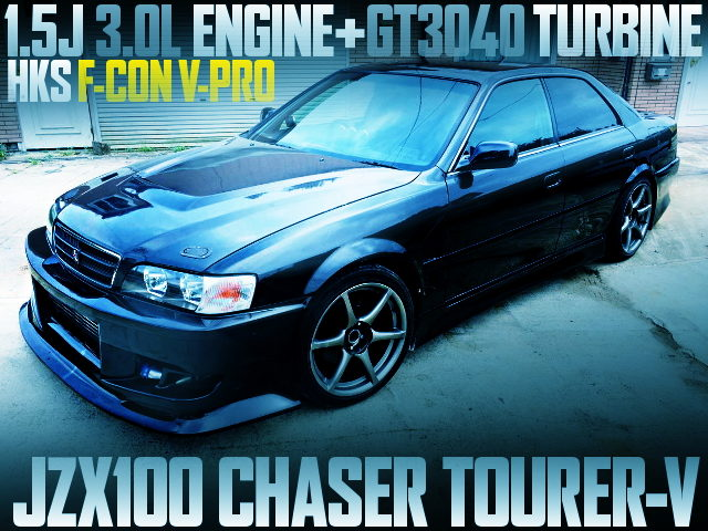 2J BLOCK WITH 1J HEAD JZX100 CHASER BLACK