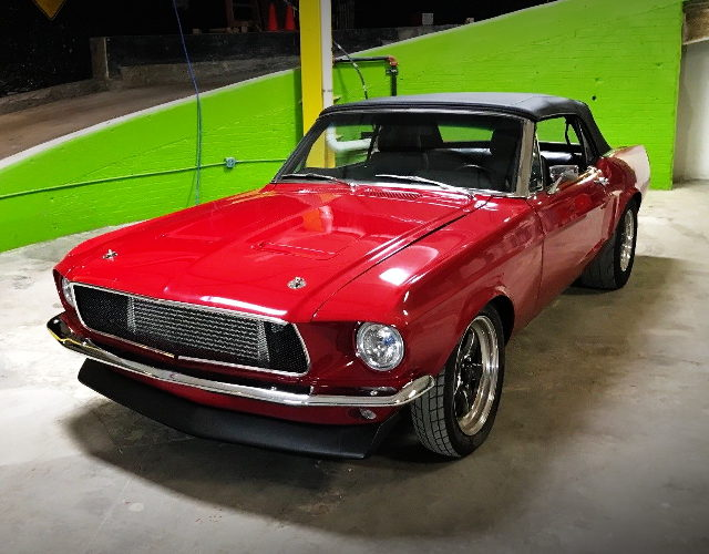 FRONT EXTERIOR FIRST GEN MUSTANG RED