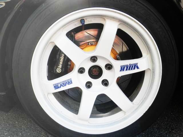 VOLK TE37 WHEEL WHITE