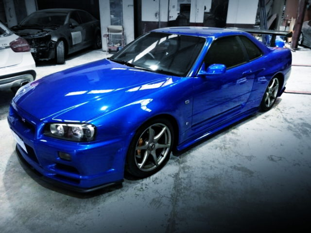 FRONT R34 GTR REPLICA BLUE