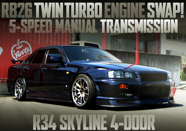 RB26 TWINTURBO ENGINE R34 SKYLINE 4-DOOR