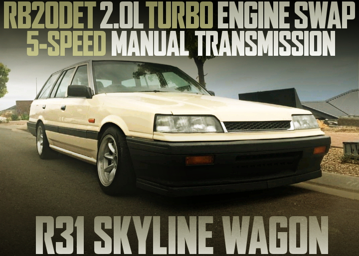 RB20DET TURBO ENGINE R31 SKYLINE WAGON