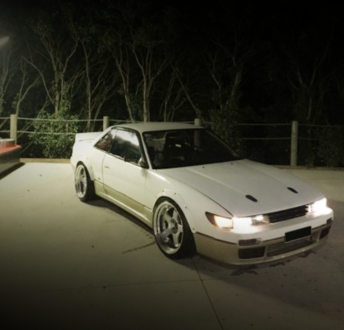 FRONT EXTERIOR S13 SILVIA QS WHITE