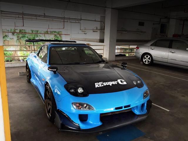 FRONT FACE LIGHT BLUE FD3S RX7