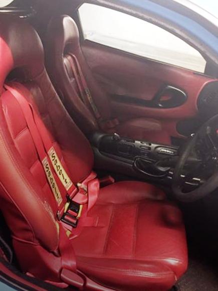 RED SEATS AND DOOR PANEL